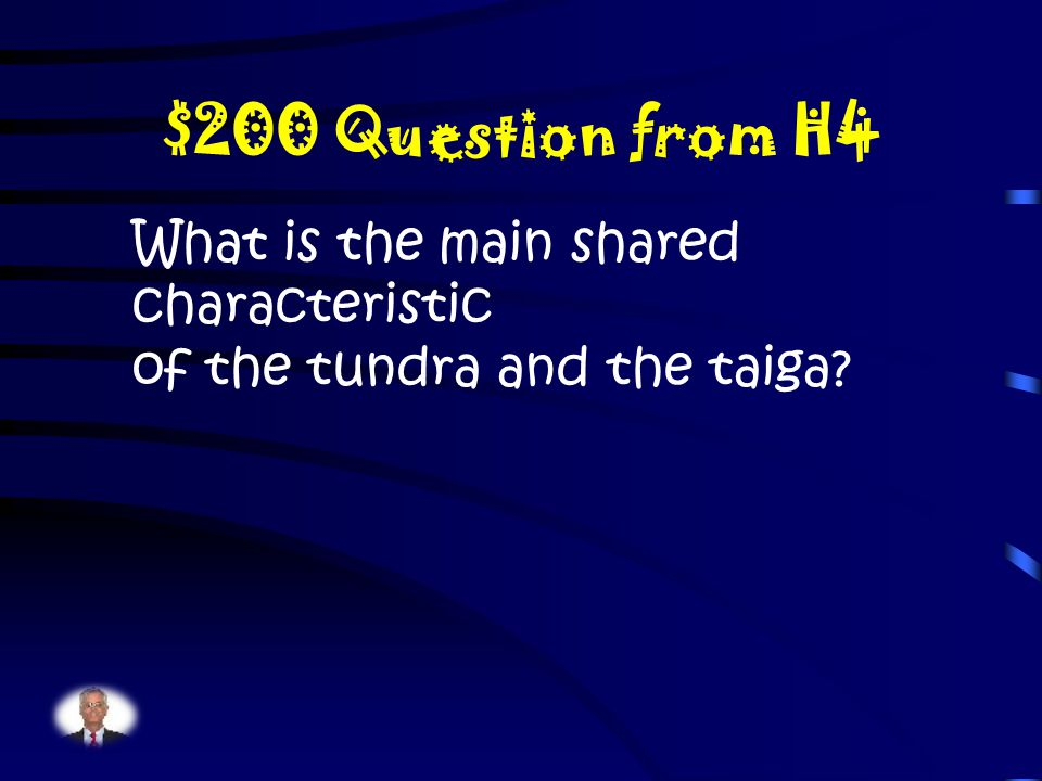 $100 Answer from H4 Where is the North Pole