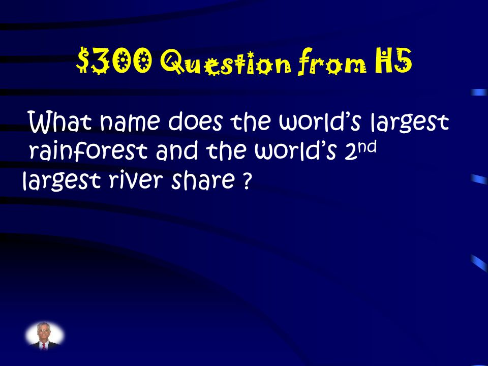 $200 Answer from H5 What is the equator