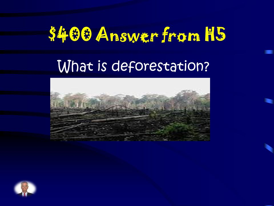 $400 Question from H5 The tropical rainforest is being destroyed faster than any other biome along with the loss of many plants and animals due to smoke and commercial logging… why