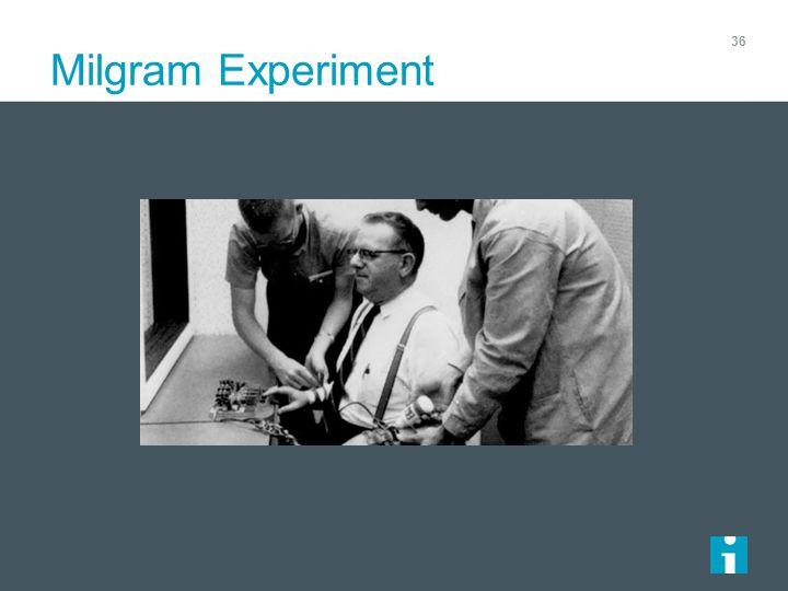 Milgram Experiment 36