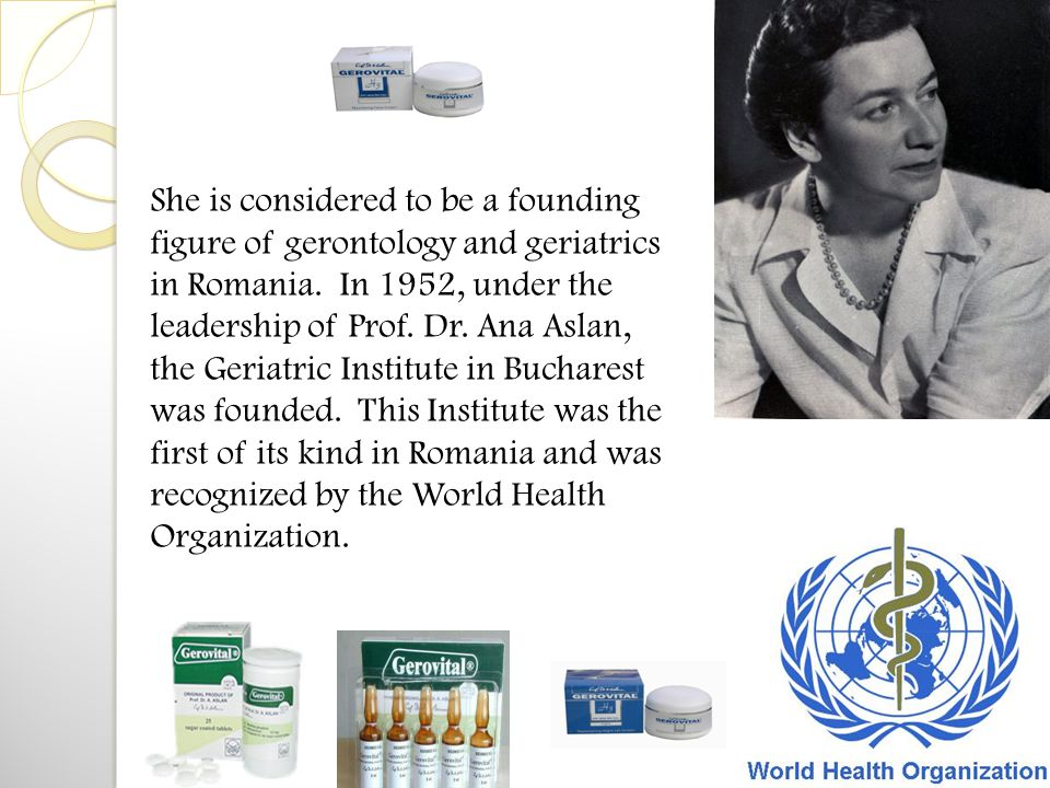 She is considered to be a founding figure of gerontology and geriatrics in Romania.