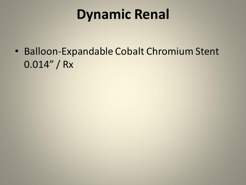"Dynamic Renal Balloon-Expandable Cobalt Chromium Stent 0.014"" / Rx"