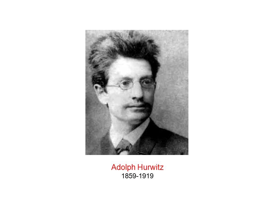 Adolph Hurwitz 1859-1919