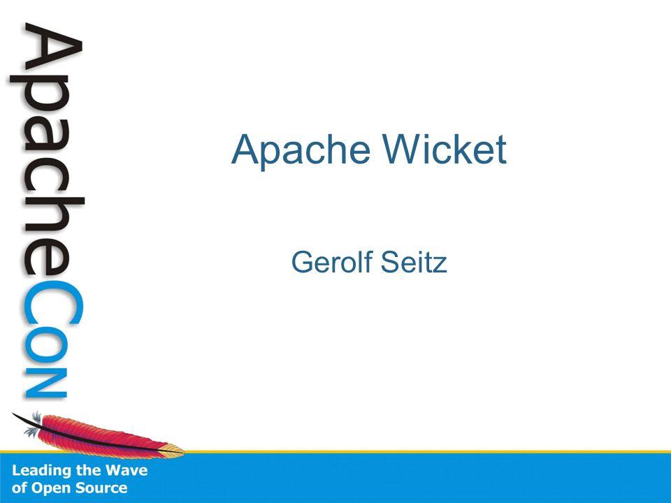 Apache Wicket Gerolf Seitz