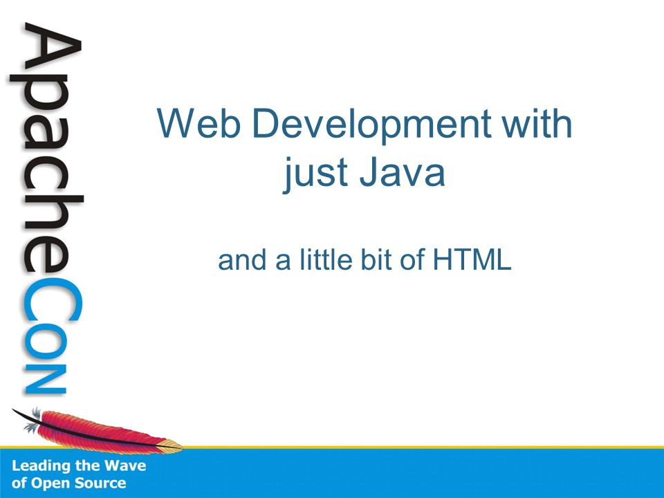 Web Development with just Java and a little bit of HTML