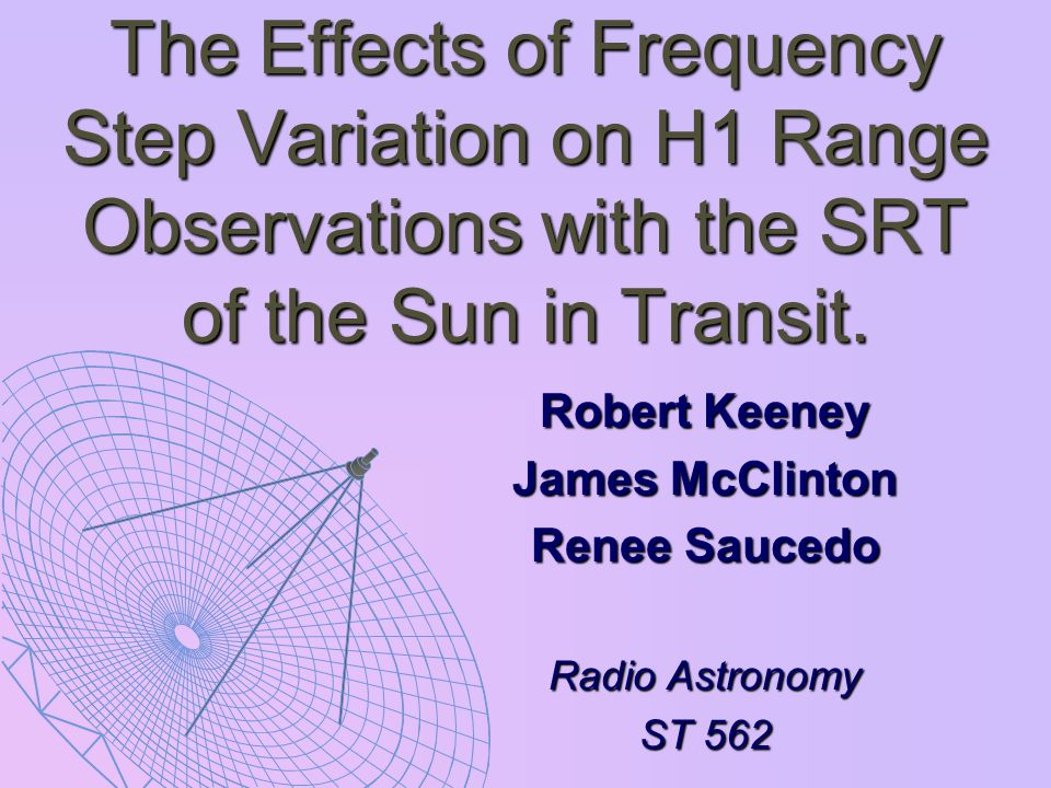Question: How will varying the frequency steps effect the data quality received from the SRT while observing a given source?