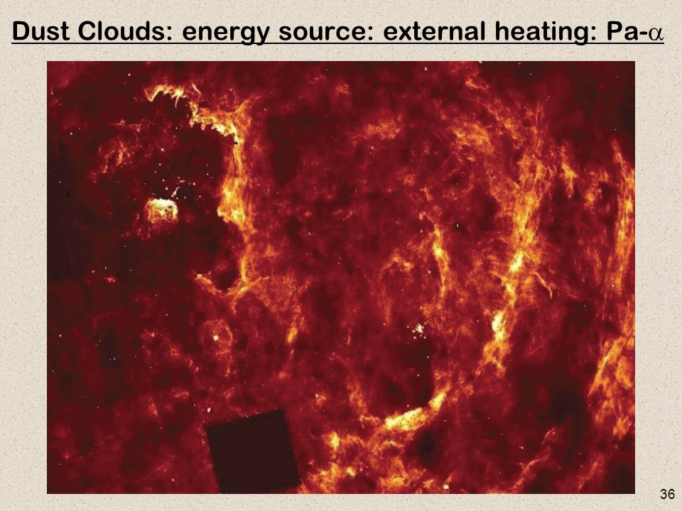 36 Dust Clouds: energy source: external heating: Pa- 