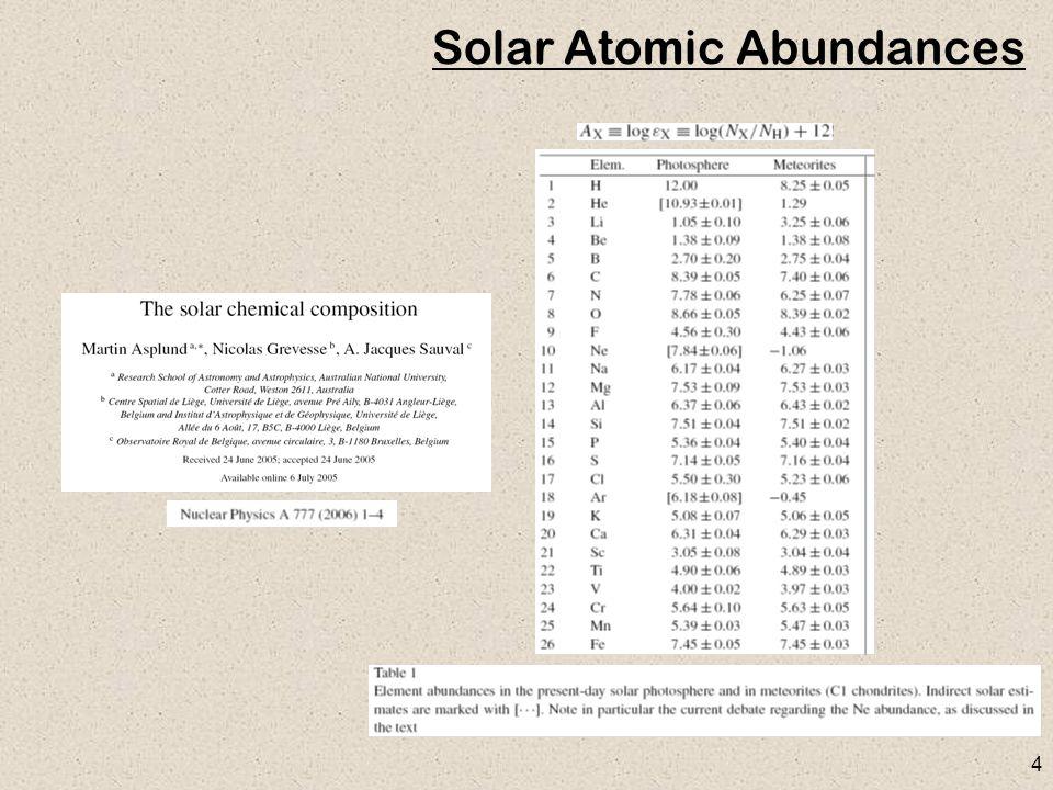 4 Solar Atomic Abundances