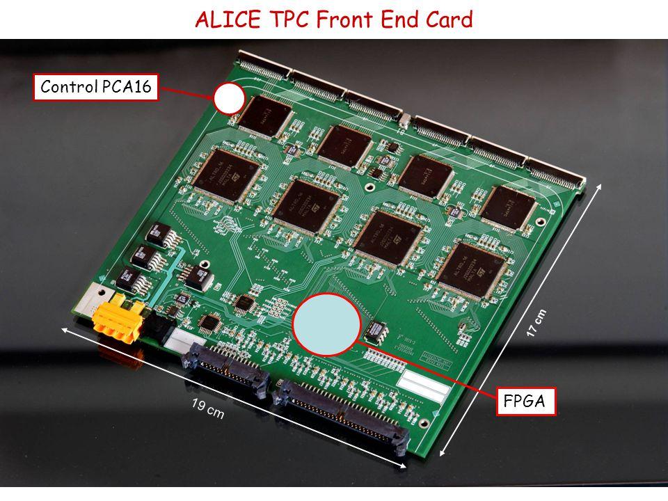 19 cm 17 cm ALICE TPC Front End Card FPGA Control PCA16