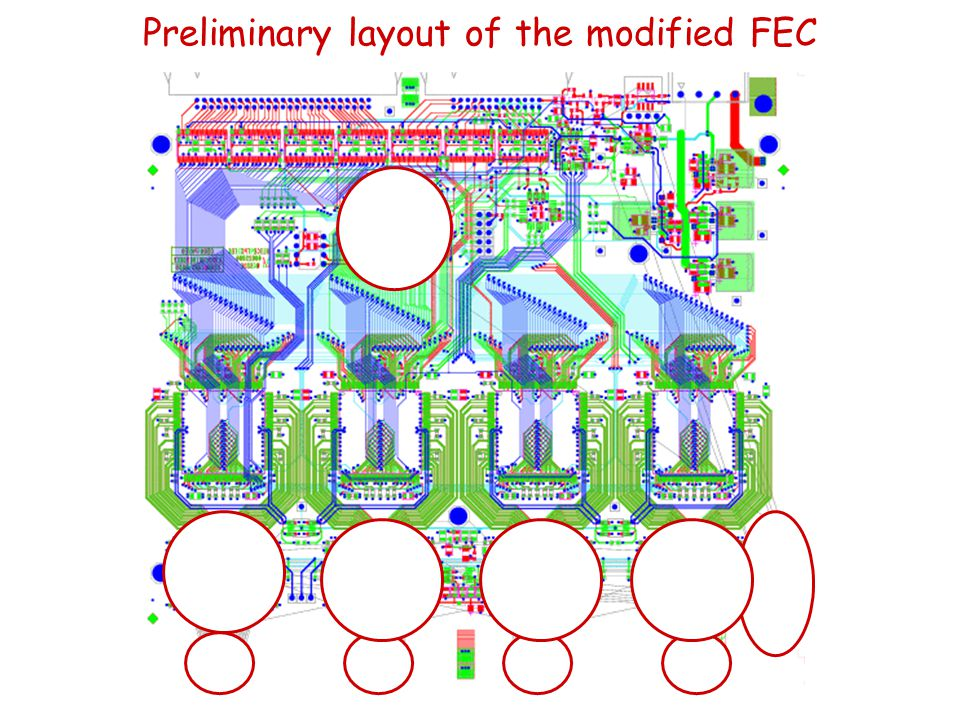 Preliminary layout of the modified FEC