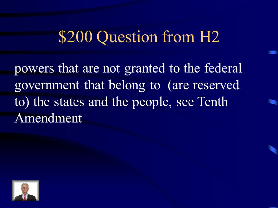 $100 Answer from H2 Implied powers