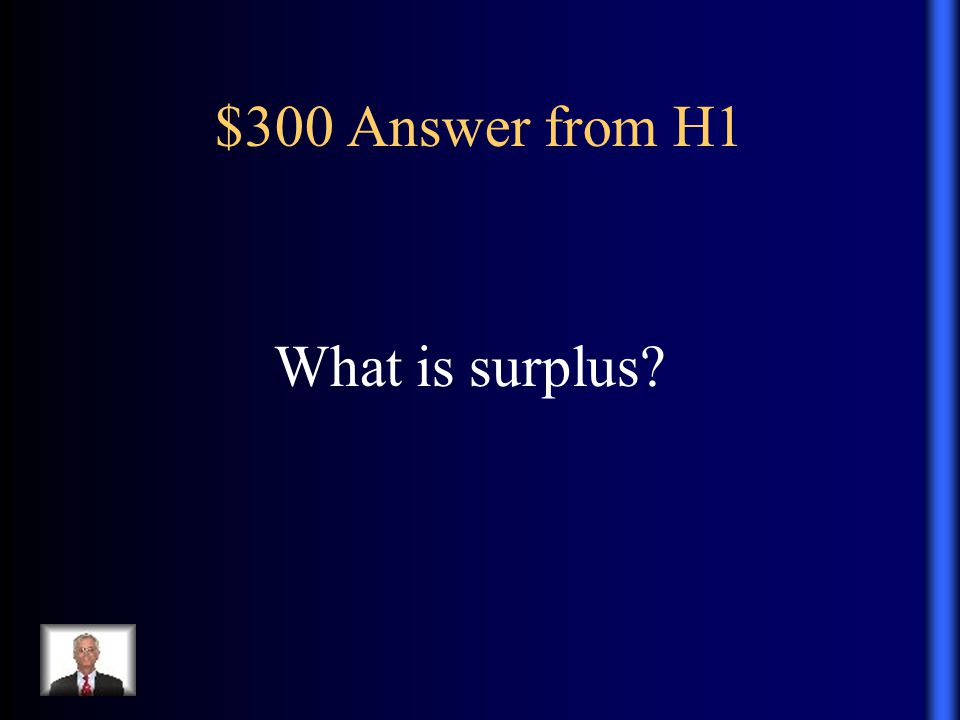 $300 Answer from H1 What is surplus?