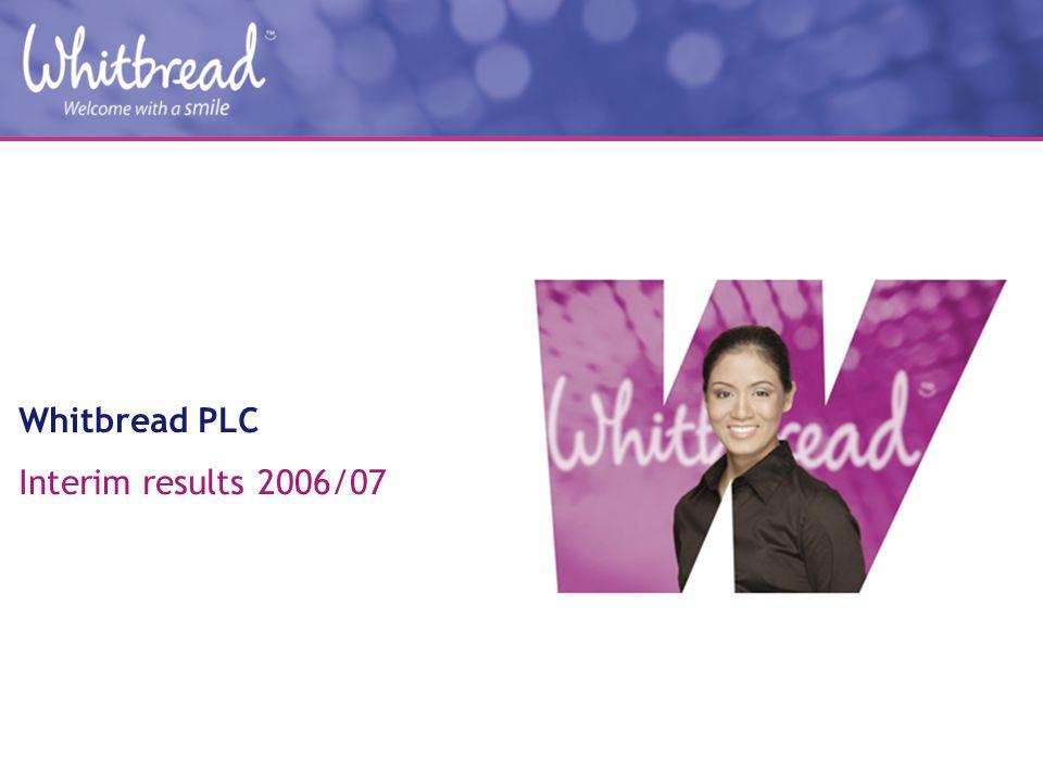 Whitbread PLC Interim results 2006/07