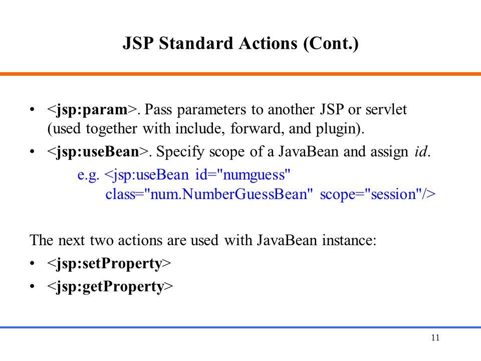 11 JSP Standard Actions (Cont.).