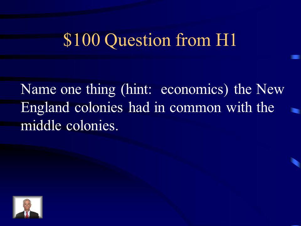13 Colonies Jeopardy Random 1 Random 2 Name That Colony Random 3 Random 4 Q $100 Q $200 Q $300 Q $400 Q $500 Q $100 Q $200 Q $300 Q $400 Q $500 Final Jeopardy