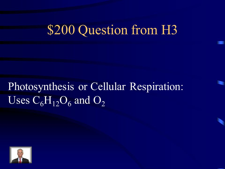 $100 Answer from H3 Photosynthesis