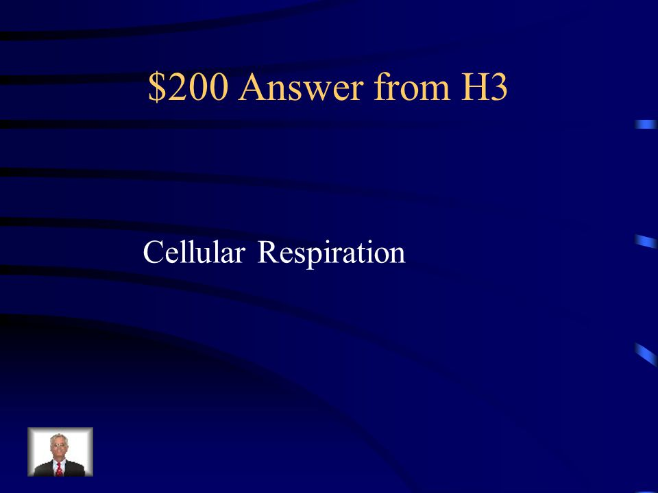 $200 Question from H3 Photosynthesis or Cellular Respiration: Uses C 6 H 12 O 6 and O 2