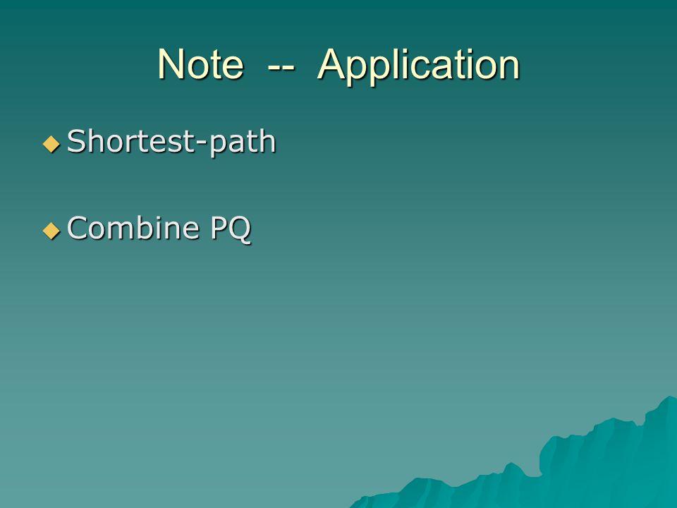 Note -- Application  Shortest-path  Combine PQ