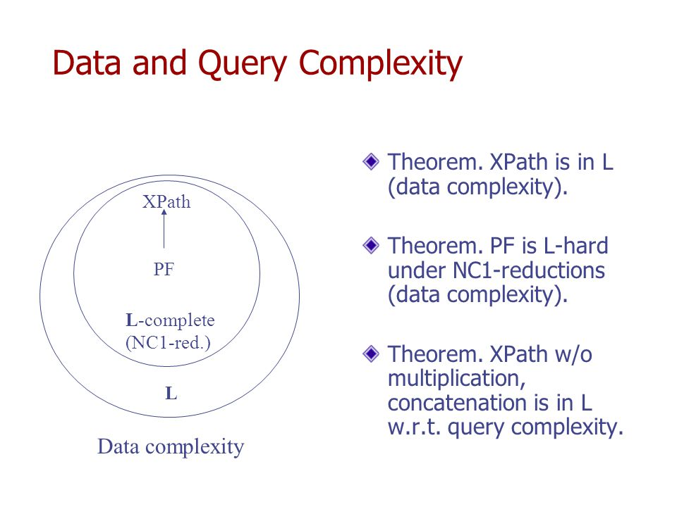 Combined Complexity of XPath PODS'03, JACM'05