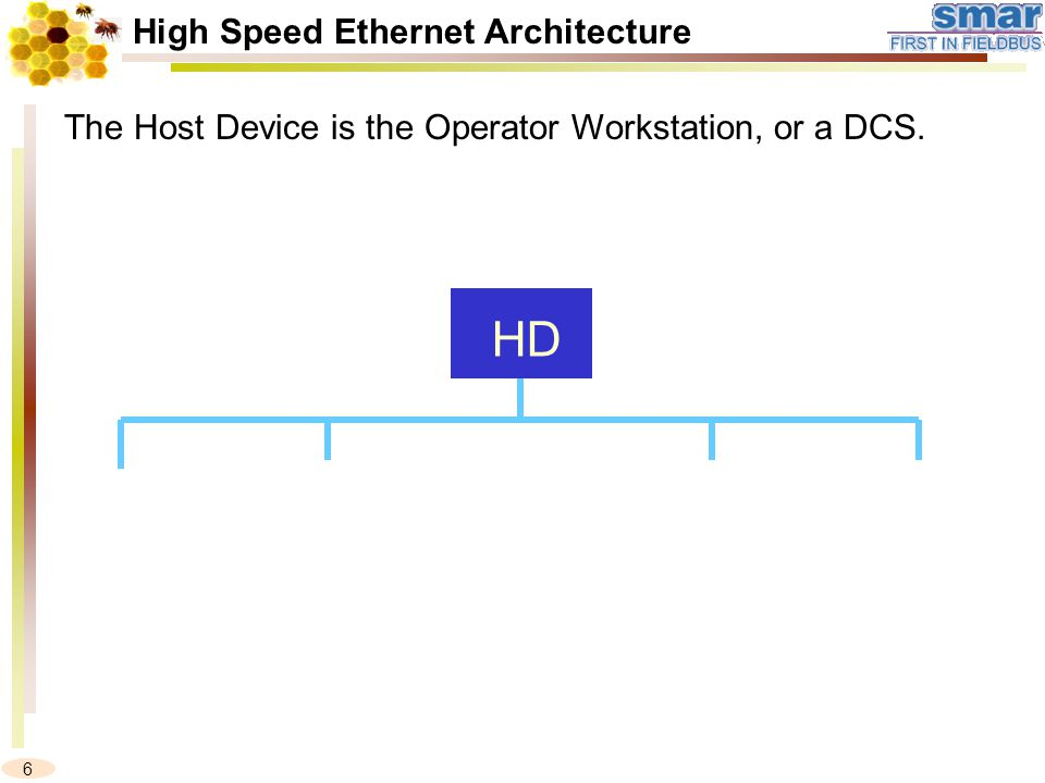 6 The Host Device is the Operator Workstation, or a DCS. HD High Speed Ethernet Architecture