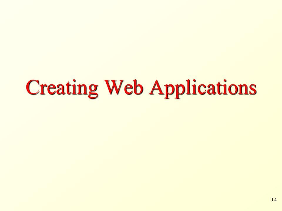14 Creating Web Applications
