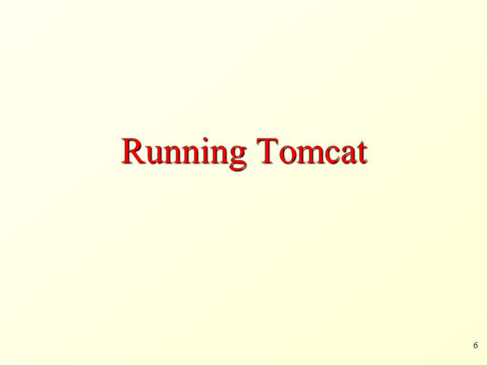 6 Running Tomcat