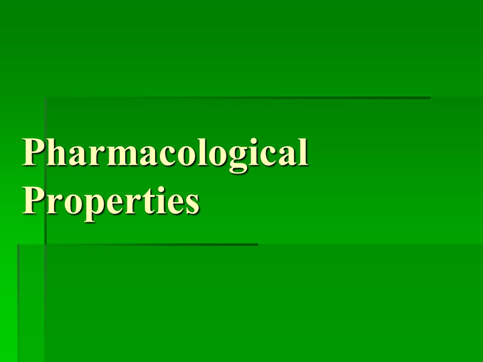 Pharmacological Properties