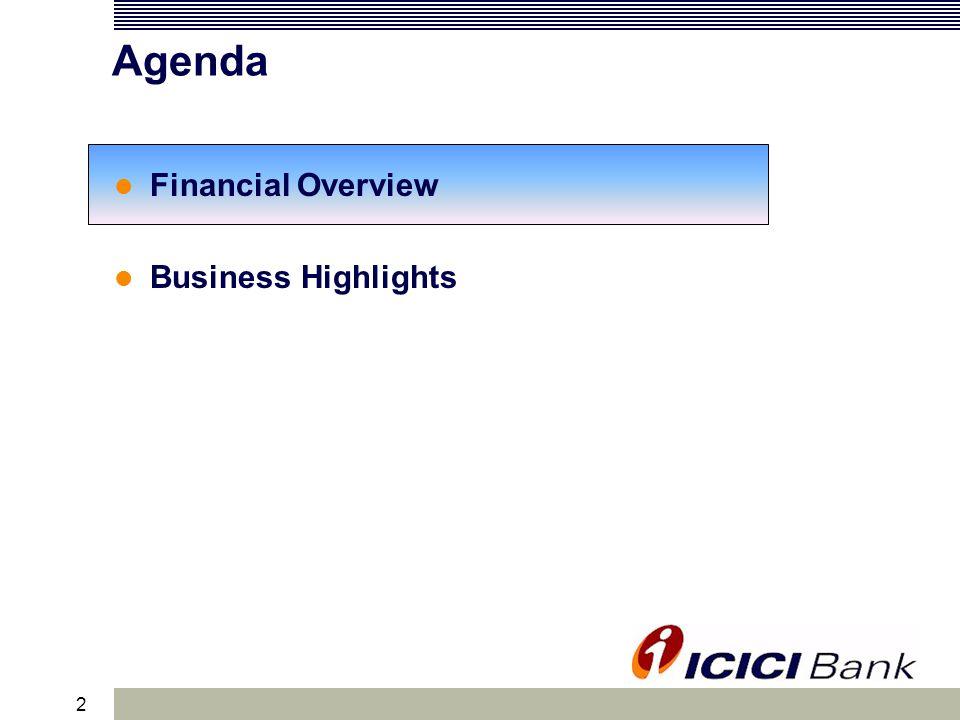 2 Agenda Financial Overview Business Highlights