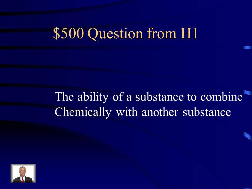 $400 Answer from H1 Physical Change