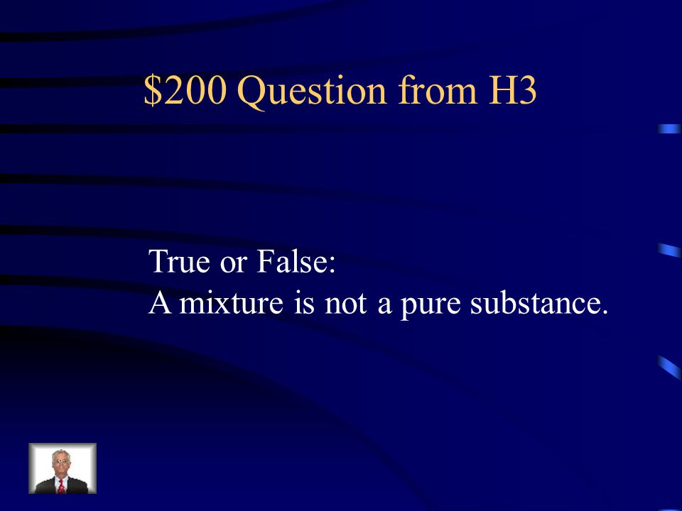 $100 Answer from H3 FIVE
