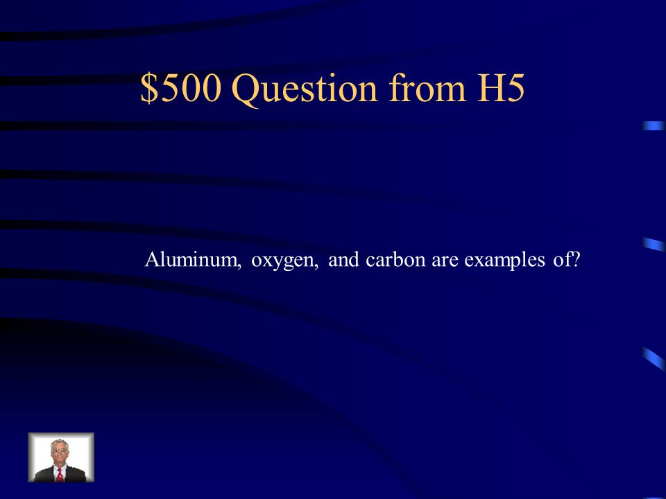 $400 Answer from H5 The element Copper
