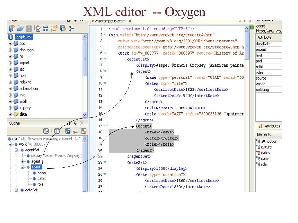 XML editor -- Oxygen