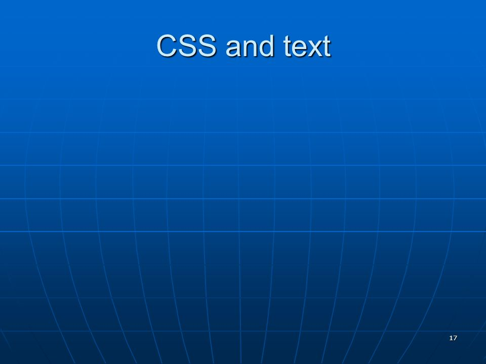 CSS and text 17