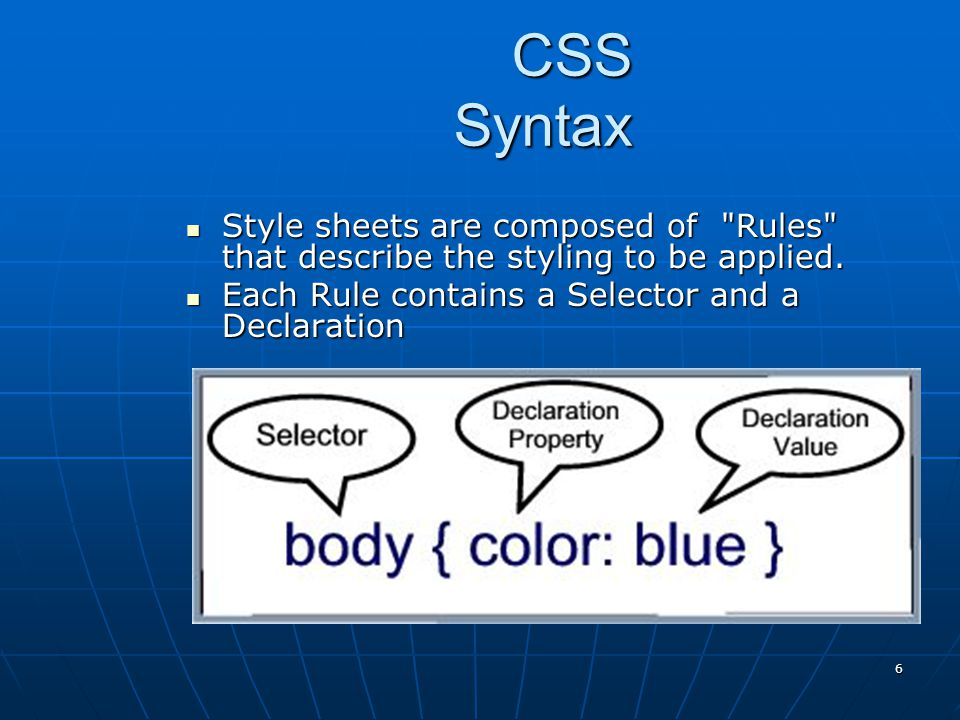 CSS Guidelines – Getting Started Review the design of the page Review the design of the page Configure global font and color properties for the body selectorConfigure global font and color properties for the body selector Identify typical elements (such as,, and so on) and declare style rules for these if needed.