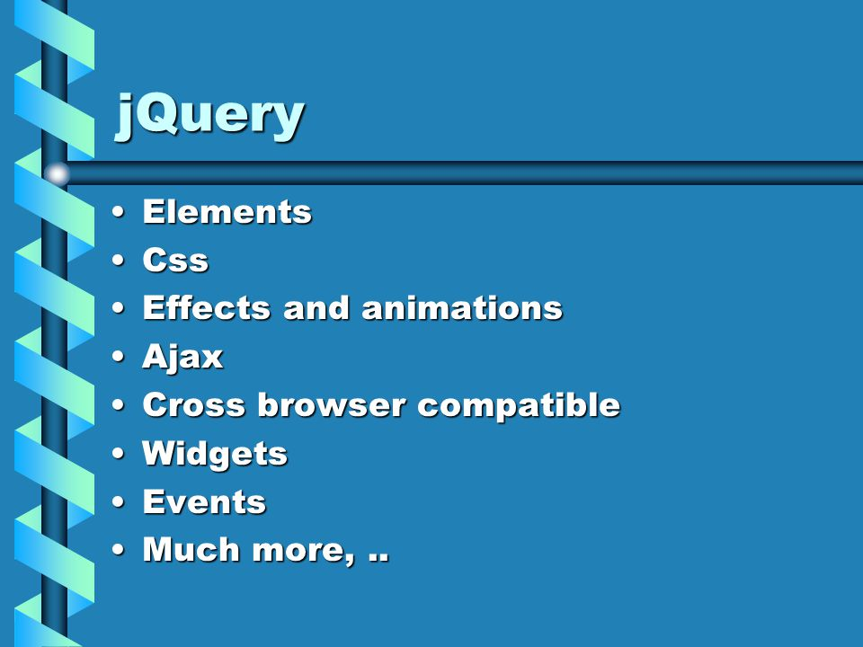 jQuery - html append function  appends to existing HTML between element tagsappend function  appends to existing HTML between element tags var elts = $( p );var elts = $( p ); elts.appends( BYE );elts.appends( BYE );  appends BYE to each paragraph  appends BYE to each paragraph