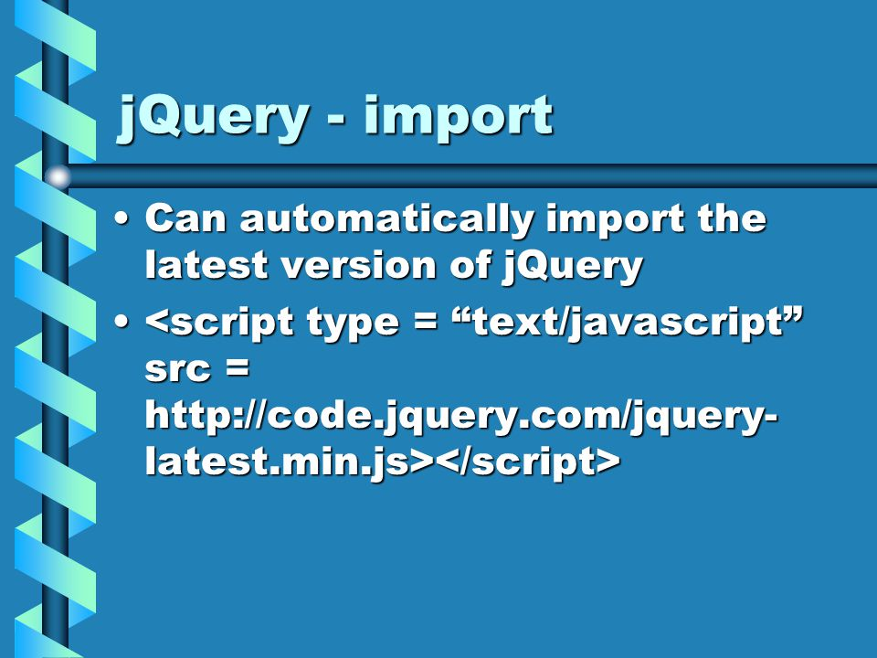 jQuery - import Can automatically import the latest version of jQueryCan automatically import the latest version of jQuery