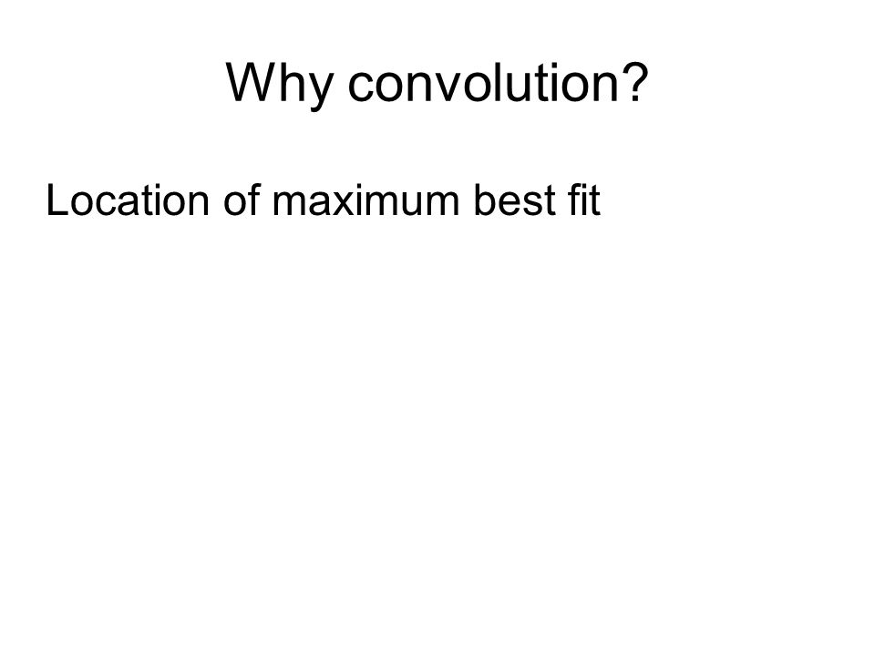 Why convolution Location of maximum best fit
