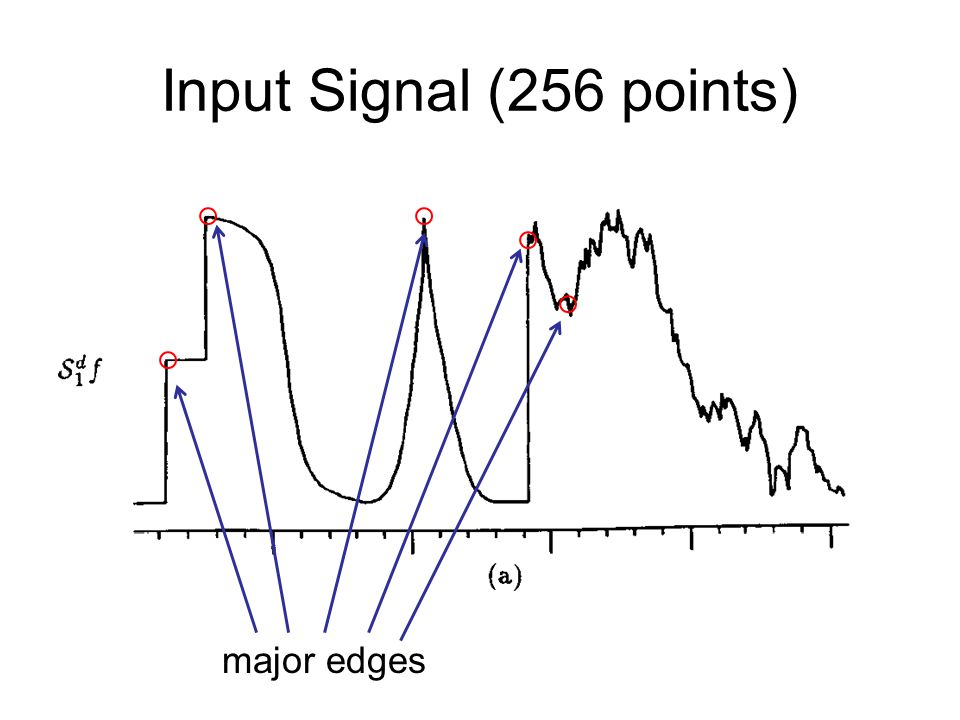 Input Signal (256 points) major edges