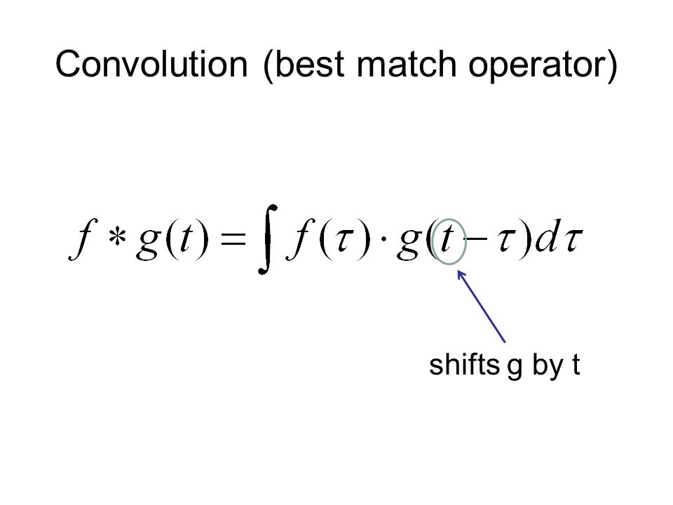 Convolution (best match operator) shifts g by t