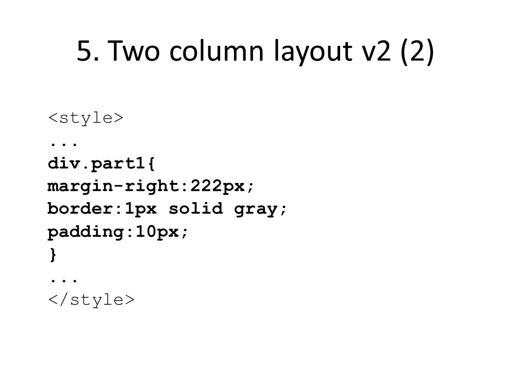 5. Two column layout v2 (2)...