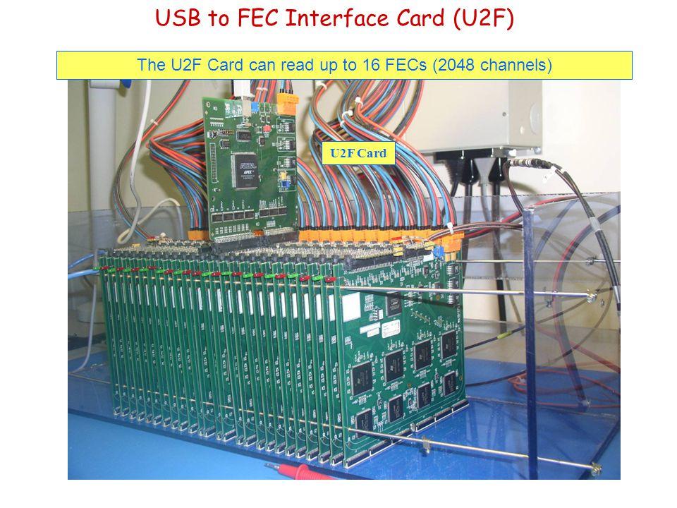 USB to FEC Interface Card (U2F) The U2F Card can read up to 16 FECs (2048 channels) U2F Card
