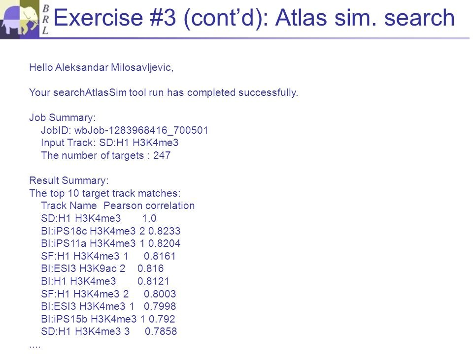 Exercise #3 (cont'd): Atlas sim.
