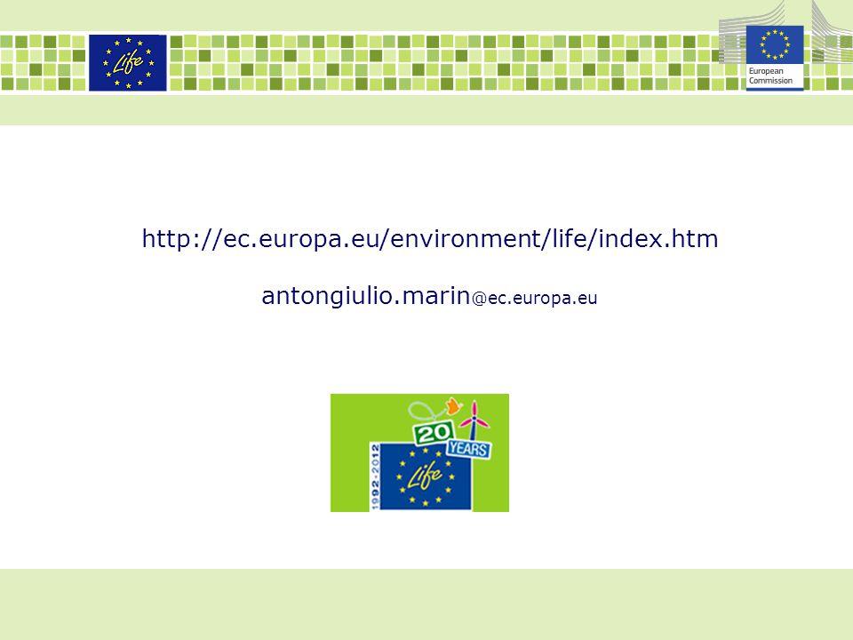 http://ec.europa.eu/environment/life/index.htm antongiulio.marin @ec.europa.eu