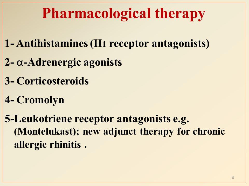 Corticosteroids Cont' Local corticosteroids are more effective compared to systemic antihistamines for allergic & non allergic rhinitis.