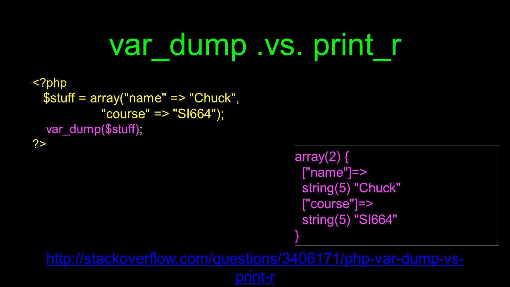 var_dump.vs.