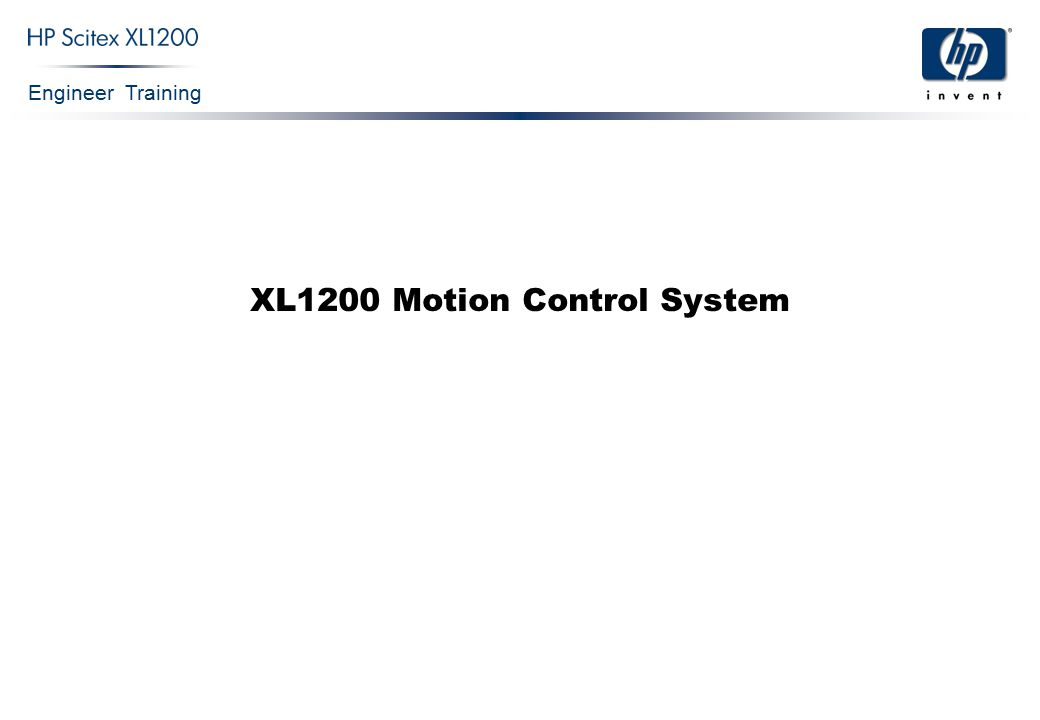 Engineer Training XL1200 Motion Control System