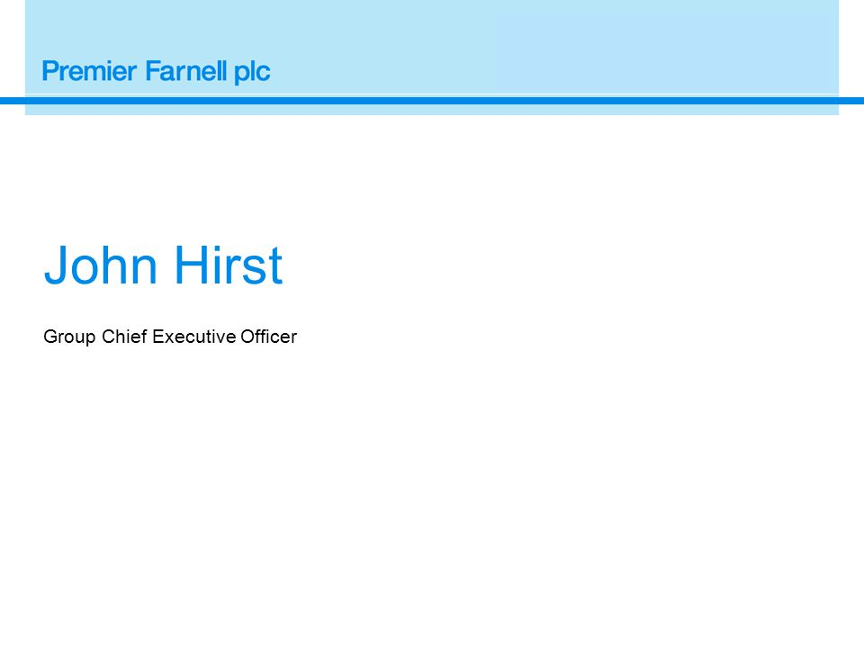 John Hirst Group Chief Executive Officer