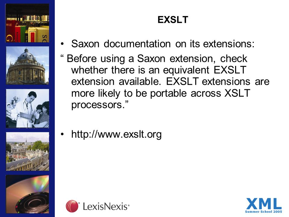 EXSLT Saxon documentation on its extensions: Before using a Saxon extension, check whether there is an equivalent EXSLT extension available.