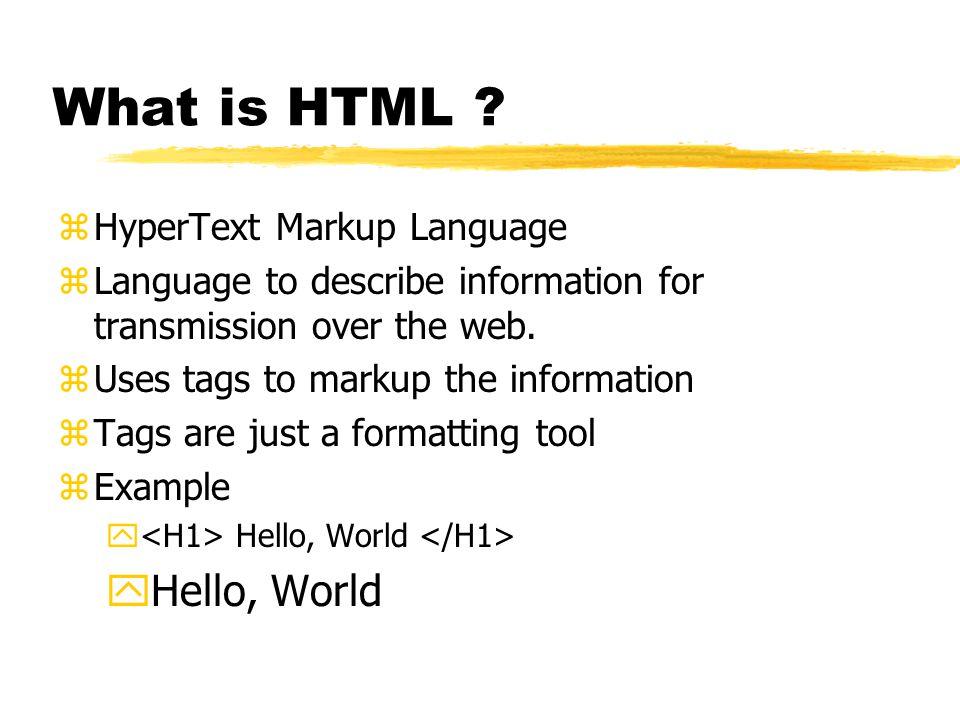 Why isn't HTML enough.