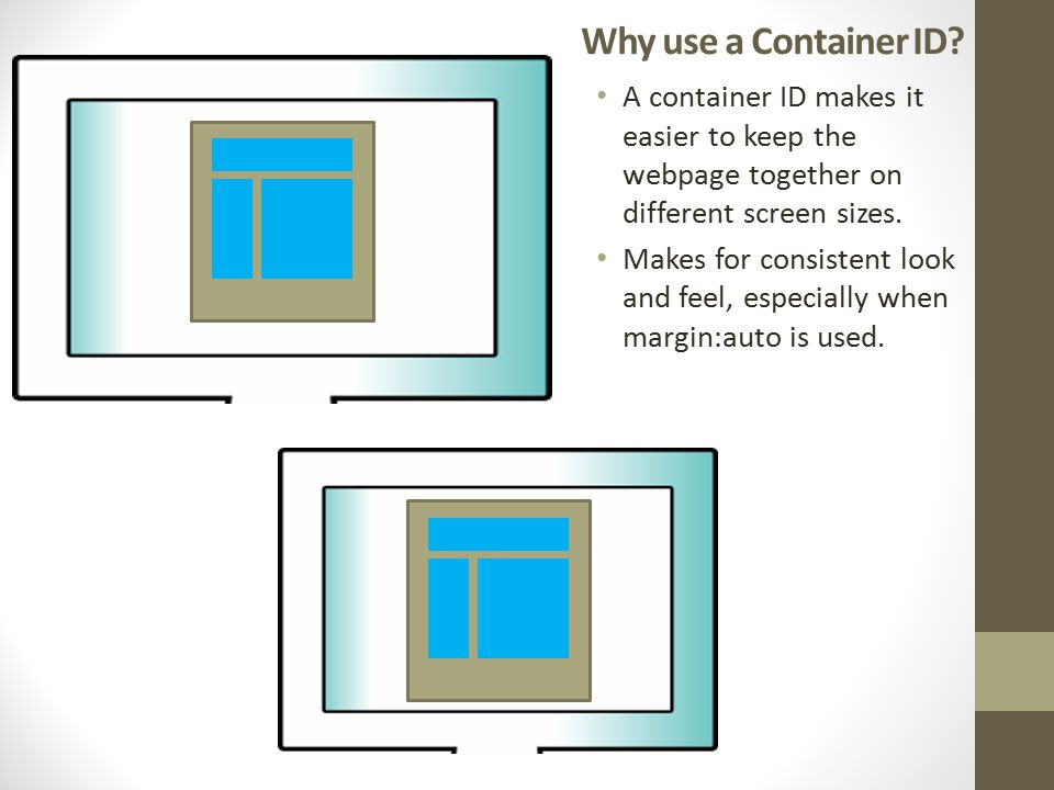 Why use a Container ID.